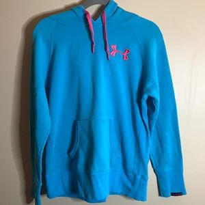 Under Armour Blue & Pink Hoodie Small